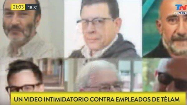 """""""Te vas"""": difunden un video contra las autoridades de Télam"""