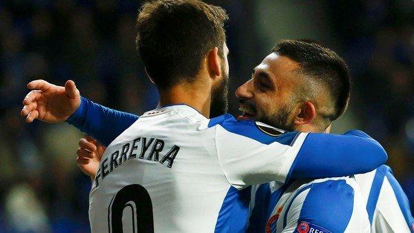 Espanyol goleó a Ludogorets con aporte de dos argentinos