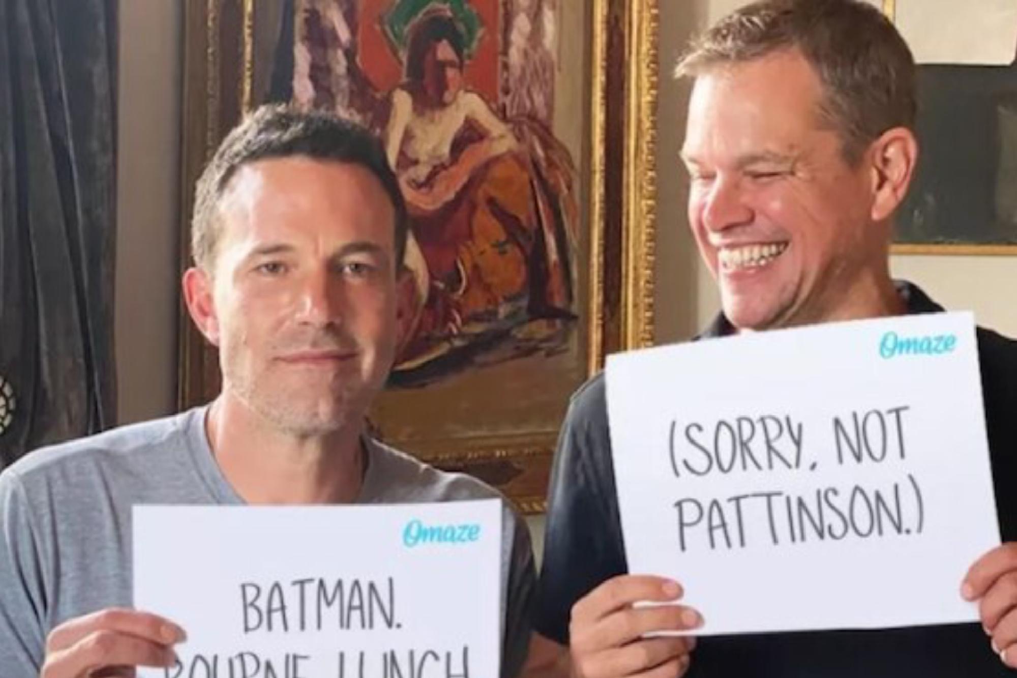 La broma de Matt Damon a Ben Affleck por perder el papel de Batman ante Robert Pattinson